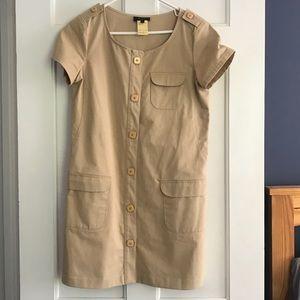 APC cotton dress beige tan size36 midi